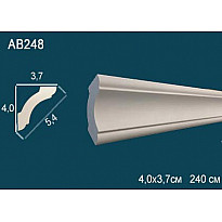 Потолочный плинтус гладкий AB248