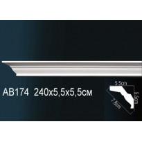 Гибкий потолочный плинтус Перфект AB174F