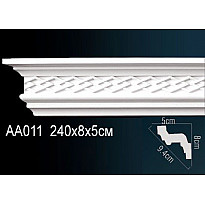 Гибкий потолочный плинтус Перфект AA011F