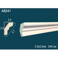 Потолочный плинтус гладкий AB241