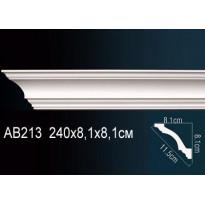 Гибкий потолочный плинтус Перфект AB213F