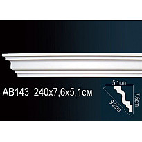 Гибкий потолочный плинтус Перфект AB143F