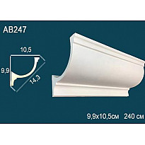 Потолочный плинтус гладкий AB247