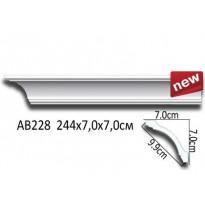 Потолочный плинтус гладкий АВ228