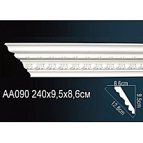 Гибкий потолочный плинтус Перфект AA090F