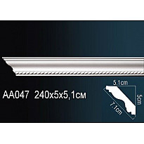 Гибкий потолочный плинтус Перфект AA047F