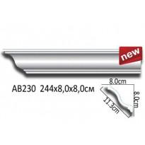 Потолочный плинтус гладкий АВ230