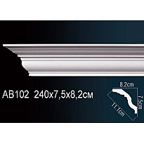 Гибкий потолочный плинтус Перфект AB102F