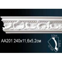 Гибкий потолочный плинтус Перфект AA201F