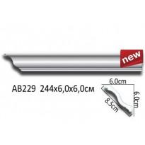 Потолочный плинтус гладкий АВ229