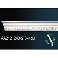 Гибкий потолочный плинтус Перфект AA212F