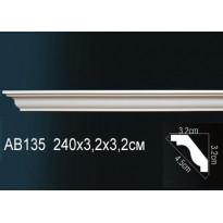 Гибкий потолочный плинтус Перфект AB135F