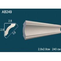 Потолочный плинтус гладкий AB249
