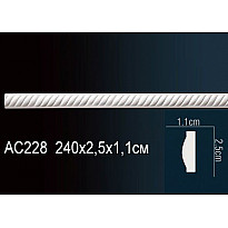 Молдинг из полиуретана гибкий AC228F