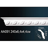 Гибкий потолочный плинтус Перфект AA091F