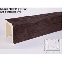 Декоративная балка из полиуретана Б9 (тёмный дуб) (9*9*300) классика Уникс