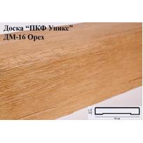 Декоративная доска из полиуретана ДМ-16 (Орех) (16*2,5*200) Уникс