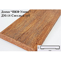 Декоративная доска из полиуретана ДМ-16 (Светлый дуб) (16*2,5*200) Уникс