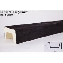 Декоративная балка из полиуретана Б1 (венге) (9*6*300) классика Уникс