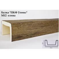 Декоративная балка из полиуретана М12 (олива) (12*6*300) модерн Уникс