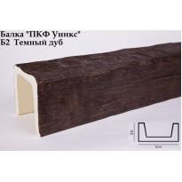 Декоративная балка из полиуретана Б2 (дуб темный) (12*12*300) классика Уникс