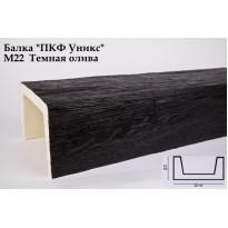 Декоративная балка из полиуретана М22 (тёмная олива) (22*15*300) модерн Уникс