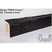 Декоративная балка из полиуретана Б2 (тёмная олива) (12*12*300) классика Уникс