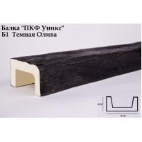 Декоративная балка из полиуретана Б1 (темная олива) (9*6*300) классика Уникс