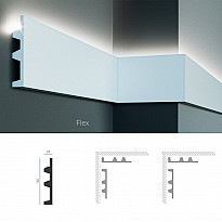 Полиуретановый молдинг-плинтус под подсветку Tesori KF 505