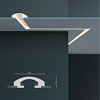Tesori KD 112 - встраиваемый потолочный молдинг для подсветки