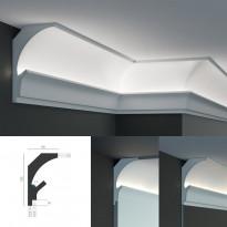 Tesori KD 205 - угловой потолочный карниз для подсветки