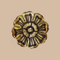 Крашенная Розетка DECOMASTER 80095-66 (d нар. 105)