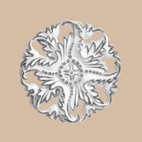 Крашенная Розетка DECOMASTER 88125-60 (d нар. 125)