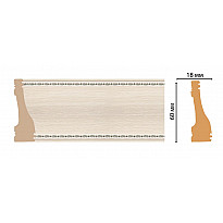 Плинтус напольный Decomaster 192-14 (60*18*2400)