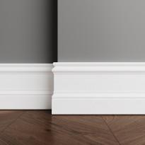 Плинтус Ultrawood арт. Base 0002 (2000 x 133 x 14 мм.) P Белый мат.