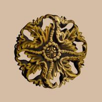 Крашенная Розетка DECOMASTER 88125-57 (d нар. 125)