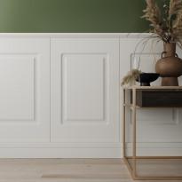Стеновая панель с 2-мя филенками, арт. UW 2100 (760 х 1000 х 12мм.) P Белый мат RAL 9003
